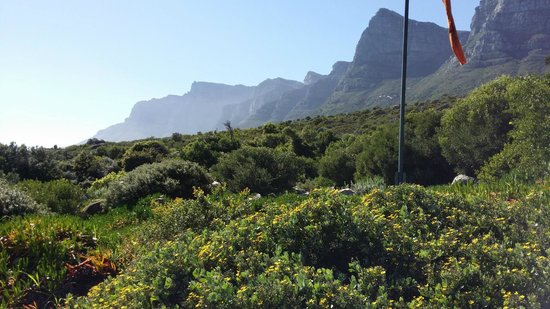 The Twelve Apostles Hotel and Spa: Mountain at back of hotel