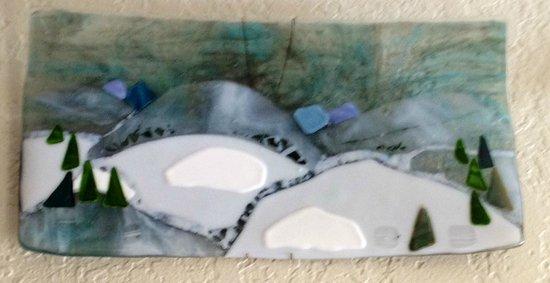 Stumptown Art Studio: My daughter made this piece of glass fusion.