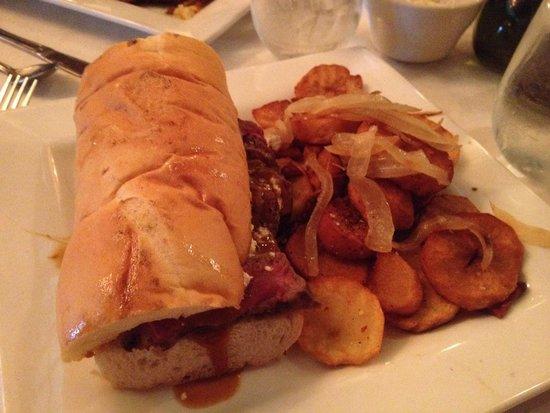 Spiro's Restaurant: Athenian Broil sandwich w/ Greek fries
