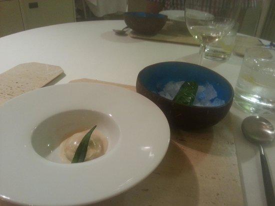 Aponiente: Razor clam sorrentino and razor clam ceviche pairing