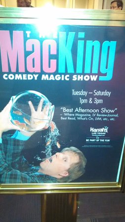 Mac King Comedy Magic Show: Poster outside theater.
