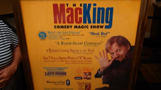 Mac King Comedy Magic Show : Poster outside theater.