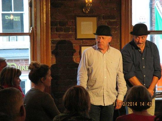 Dublin Literary Pub Crawl: Frank & Colm doing their shtick!