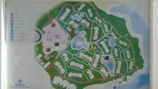 Map Of The Hotel Picture Of Hilton Marsa Alam Nubian Resort - Map of egypt marsa alam
