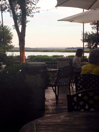 Saltus River Grill: Lovely view from our table inside by the windows