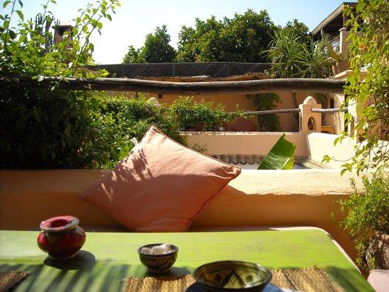 Dar Mouassine: terrazza colazione