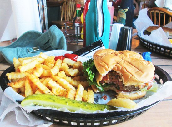StingRay's on Tybee: A Stingburger cooked perfectly