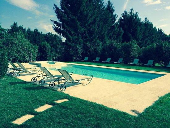 Chateau De Fleurville: la piscina