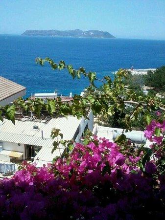 Hotel Kayahan: Uitzicht vanaf het terras op Meis
