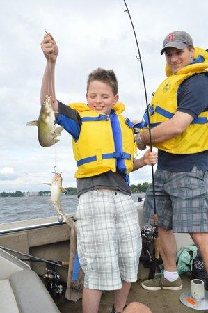 Ottawa River Guided Fishing : Double catfish hit