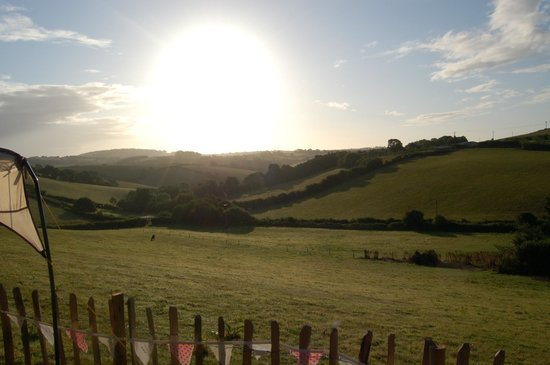 Hideaway Huts at Treworgey: Our morning view
