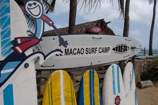 Macao Surf Camp entrance.