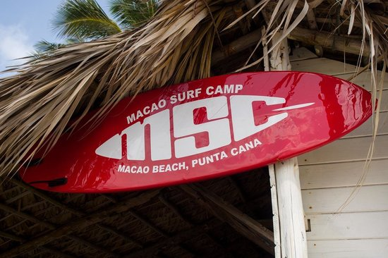 Macao Surf Camp sign
