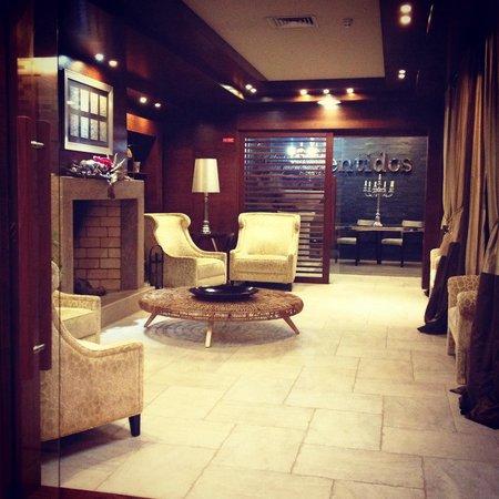 Your Hotel & Spa Alcobaça: Entrada do restaurante/ área de pequeno almoço