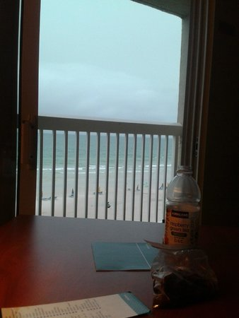 Ocean view from our room