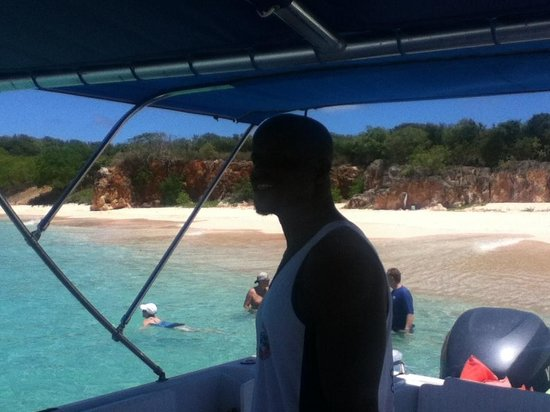 Oyster Pond, Isla de San Martín: Captain in Training - Dale