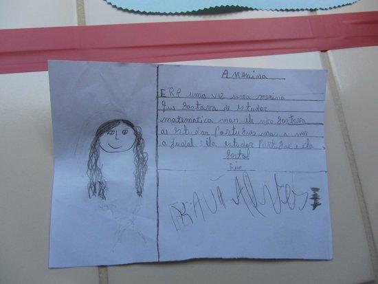 Casa Encantada : Uno dei disegni fatti dai bimbi del progetto di Casa Do Sol