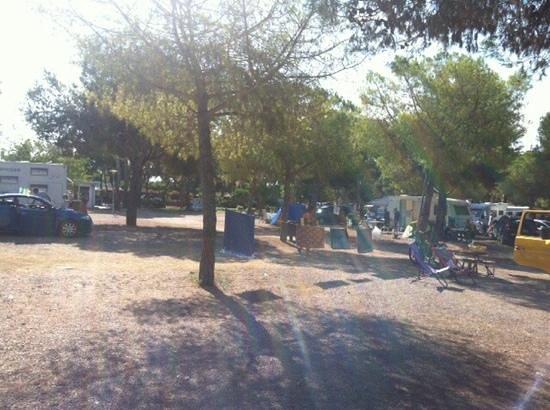 Camping El Garrofer: panoramica zona piazzole per itineranti.