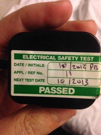 Capital Residence: PAT testing? visit date 15/09/2014