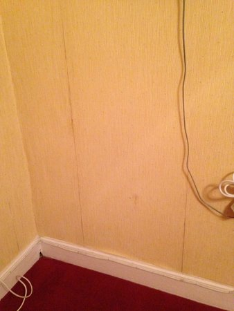 Ballantrae West End Hotel : wall paper pealing off walls and hanging wires