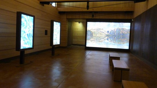 Laurance Rockefeller Preserve: the video room showcasing nature's images/sounds