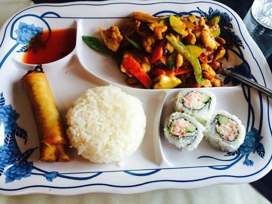 Halu Sushi: kung pow chicken