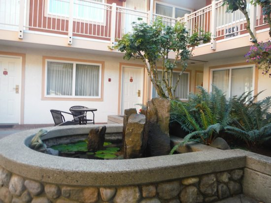Comfort Inn and Suites North Vancouver : Little fountain in their courtyard area.