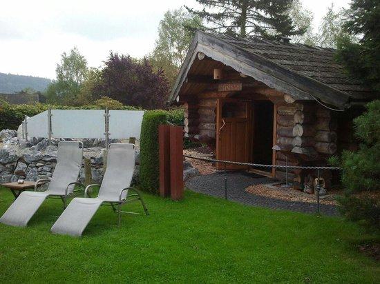 Aussen Sauna Picture Of Romantik Hotel Freund Spa Resort