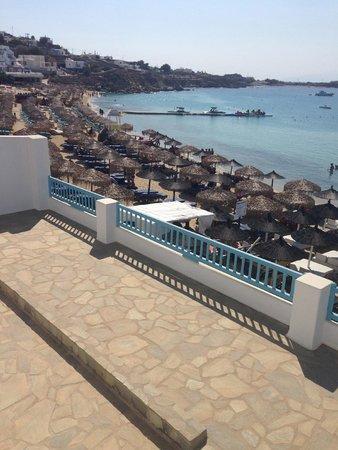 Mykonos Kosmoplaz: View from balcony
