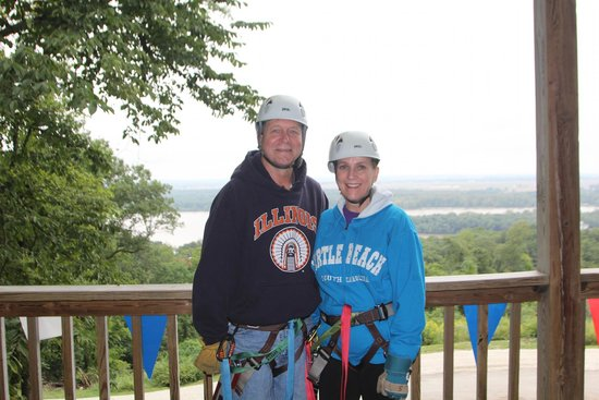 Grafton Zipline Adventures: Photo before zipping!