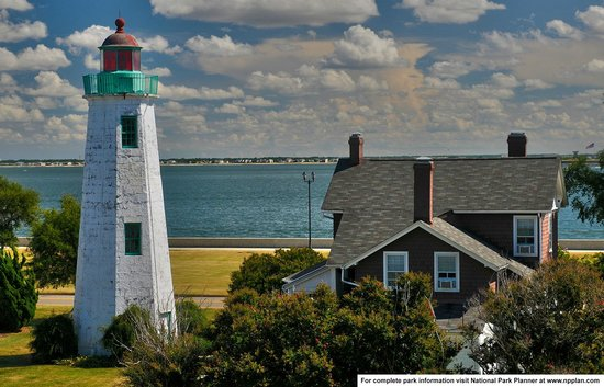 Fort Monroe National Monument: Point Comfort Lighthouse as seen from Fort Monroe