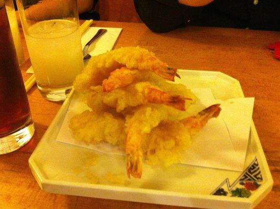 Misato Japanese : Deliciously light and crispy tempura king prawns