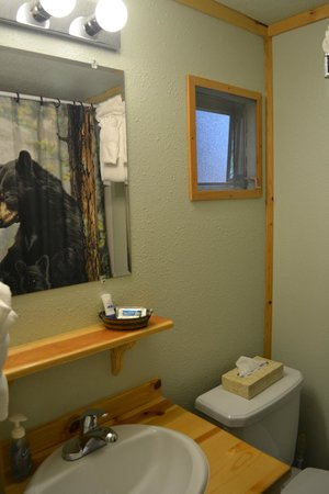 Glacier Haven Inn: The bathroom.