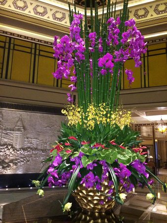 Beautiful flower arrangement at the lobby. - Picture of ...