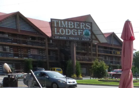 Timbers Lodge seen from The Track across the street