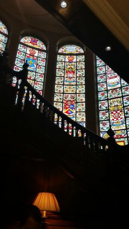 Quebecs: stained glass stairway