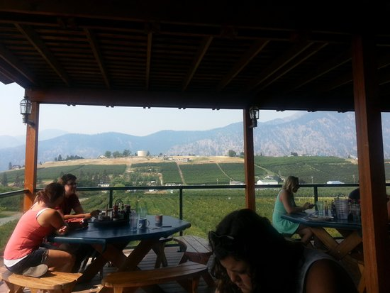 Blueberry Hills: the view while you eat on the deck!