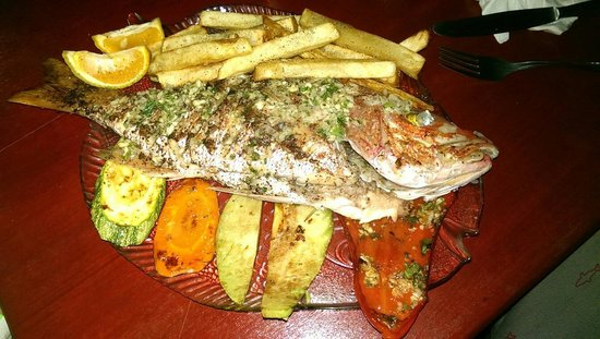 Lazlo's Catch of the Day : Red snapper. 13000 colones for 2 people. Best meal ever.