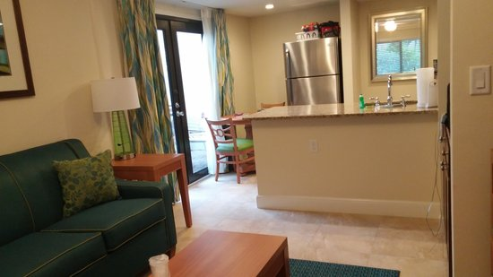 La Costa Beach Club Resort: condo living room/kitchen