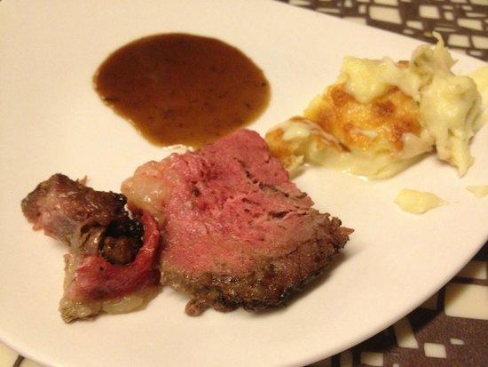 Triple Three: Roast Beef and Mash Potato with Truffle Sauce