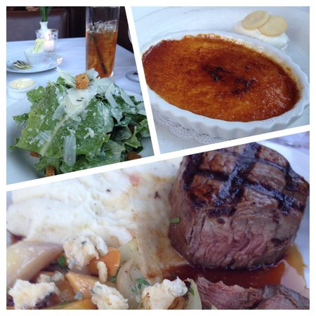 Back Bay Grill: Head Lettuce Salad, Filet Mignon, Creme Brûlée