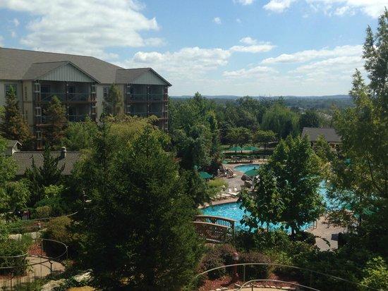 Marriott's Willow Ridge Lodge: View from Back Veranda of Main Lobby