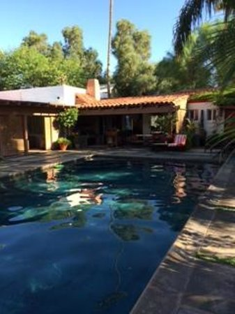 The Adobe House : The relaxing pool - I love to swim!