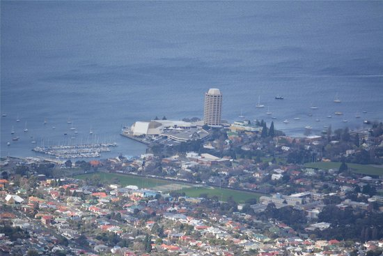 Wrest Point Hotel from Mt Wellington