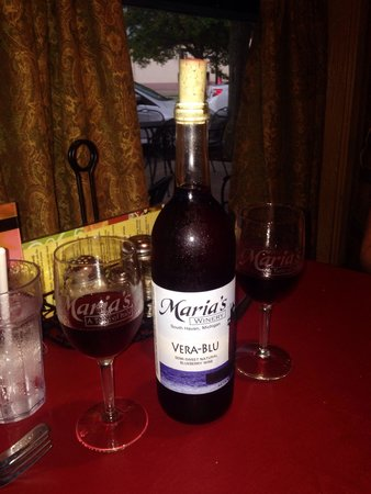 Maria's: Vera-Blue wine...we don't like sweet wines. This is exceptional wine.