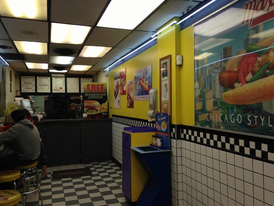 Max's Take Out: Inside Max's, Chicago's hot dog emporium.