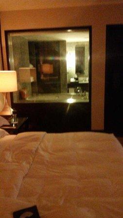 Mandarin Oriental Jakarta: bathroom view from the room