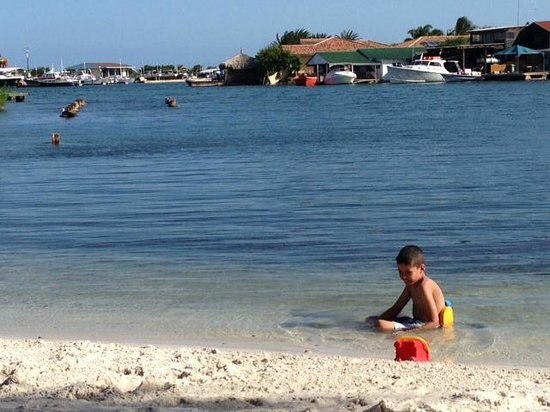 La Maya Beach Luxury Apartments : My son on the beach