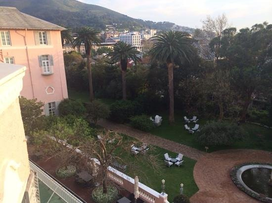 Belmond Mount Nelson Hotel: view from our balcony