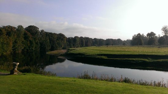 Warwick Hall: View of the river from breakfast room.